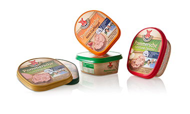 Meat spread packaging with IML.